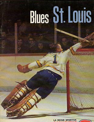 1968 St. Louis Blues Yearbook; Glenn Hall on Cover; V. Nice!