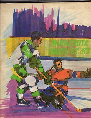 1968 Minnesota North Stars Yearbook and Program v Montreal; V. Nice!