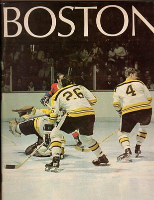 1971 Boston Yearbook and Program v Montreal; Orr on Cover; V. Nice!