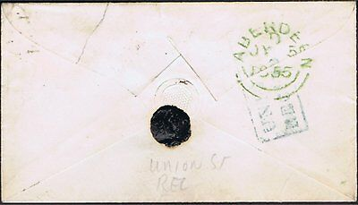 Scotland 1855 E With Boxed Union St/recg House Boxed Local Namestamp Of Aberdeen