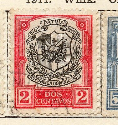 Dominican Republic 1911 Early Issue Fine Used 2c. 121864