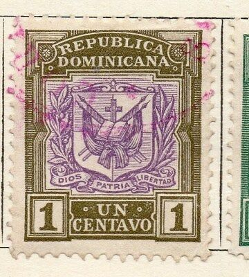 Dominican Republic 1901 Early Issue Fine Used 1c. 121892
