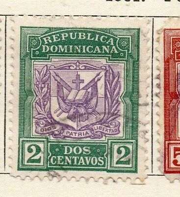 Dominican Republic 1901 Early Issue Fine Used 2c. 121893