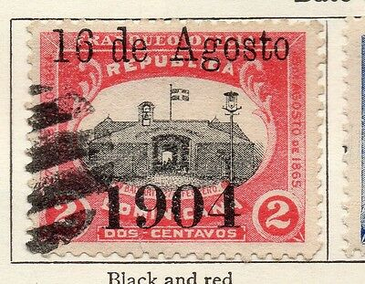Dominican Republic 1904 Early Issue Fine Used 2c. Optd 121907