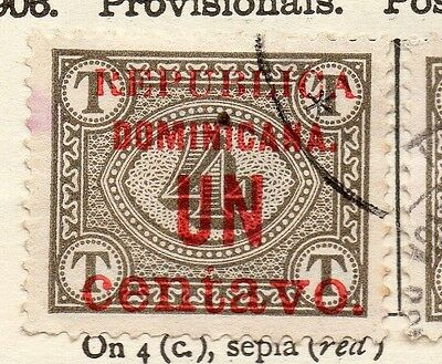 Dominican Republic 1906 Early Issue Fine Used 1c. Surcharged 121919