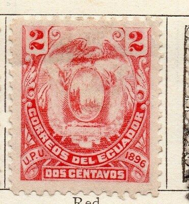 Ecuador 1896 Early Issue Fine Mint Hinged 2c. 121944