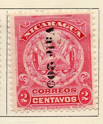 Nicaragua 1906 Early Issue Fine Mint Hinged 20c. Surcharged 122052