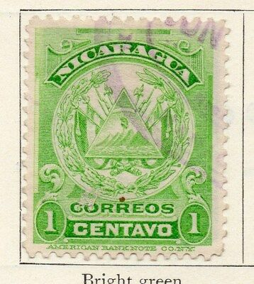 Nicaragua 1909 Early Issue Fine Used 1c. 122065