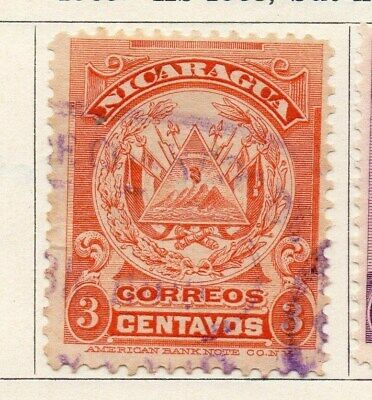 Nicaragua 1909 Early Issue Fine Used 2c. 122066