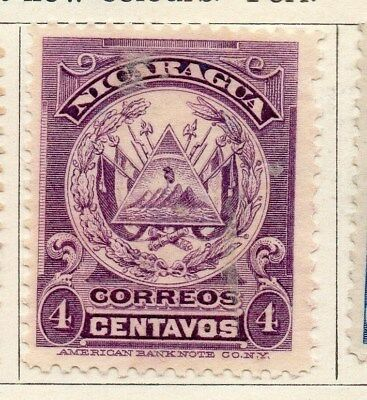 Nicaragua 1909 Early Issue Fine Mint Hinged 1c. 122067