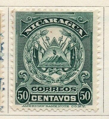 Nicaragua 1909 Early Issue Fine Mint Hinged 50c. 122073