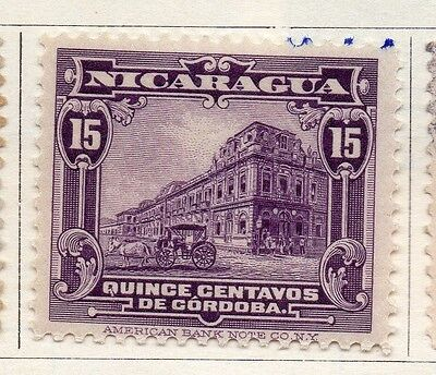 Nicaragua 1914 Early Issue Fine Mint Hinged 15c. 122133