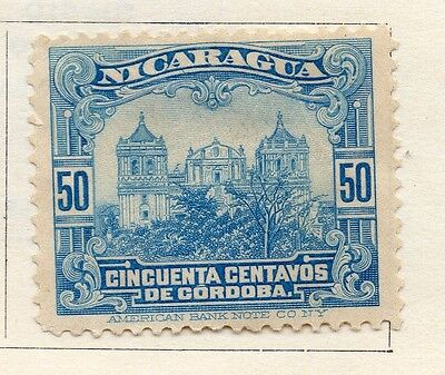 Nicaragua 1914 Early Issue Fine Mint Hinged 50c. 122138