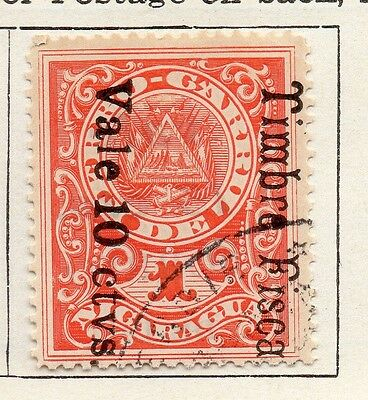 Nicaragua 1911 Early Issue Fine Used 10c. Surcharged Optd 122142