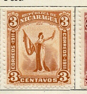 Nicaragua 1912 Early Issue Fine Mint Hinged 3c. 122152