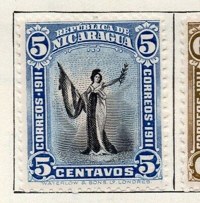 Nicaragua 1912 Early Issue Fine Mint Hinged 5c. 122154