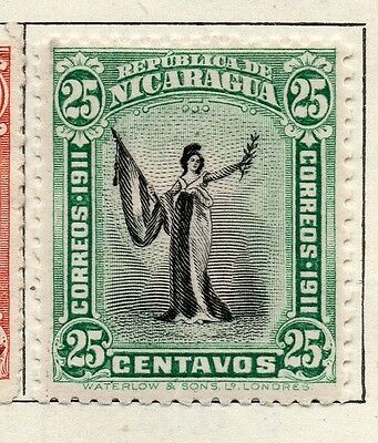 Nicaragua 1912 Early Issue Fine Mint Hinged 25c. 122159