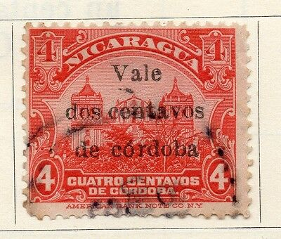 Nicaragua 1918 Early Issue Fine Used 2c. Optd Surcharged 122177