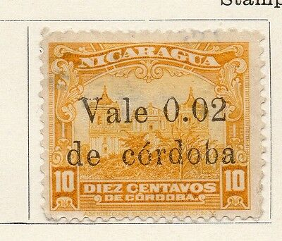 Nicaragua 1923 Early Issue Fine Mint Hinged 2c. Surcharged 122196