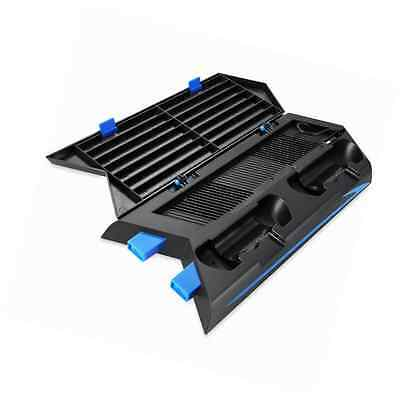 Amir Cooler for PS4, Vertical Stand Cooling Fan, Dual Charging Station with 3 HU