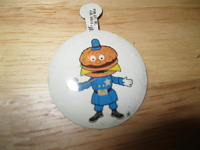 Vintage Mc Donalds Officer Big Mac bend over pin button by Para Gift Inc