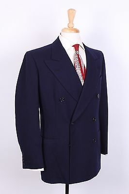 Vtg 50S Rockabilly Wool Double Breasted Suit Usa Mens Size 40