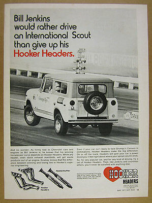 1971 grumpy jenkins International Scout Comanche photo Hooker Headers vintage Ad