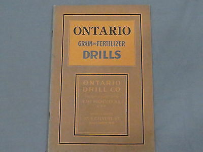 Vintage ONTARIO Grain and Fertilizer Drills sales Brochure Catalog 28 pages