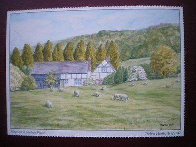 Postcard Worcestershire Maytime At Shelsey Walsh - Water Colour