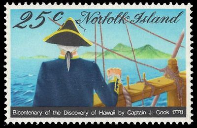 NORFOLK ISLAND 223 (SG201) - James Cook's Voyage to the Hawaii (pf92702)