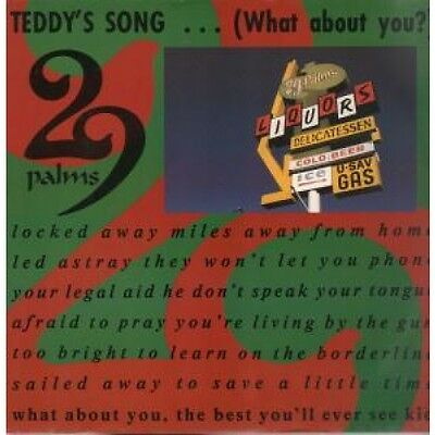 """29 PALMS Teddy's Song 12"""" VINYL UK Irs 1991 3 Track B/W No Pelicans Acoustic"""