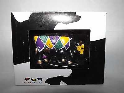 "Cow Parade Mini Sculpture Figure ""Moody Gras"" Copyright 2006 Mardi Gras Cow New"