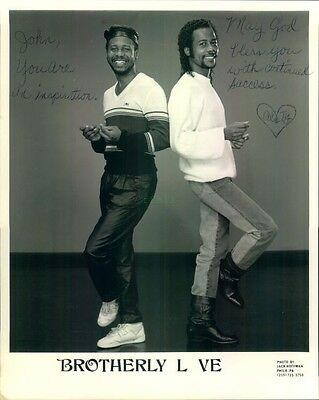 Autographed Press Photo: BROTHERLY LOVE 8x10 B&W signed