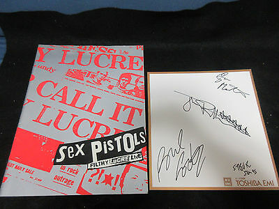 Sex Pistols 1996 Japan Tour Book with Signed Card of Toshiba EMI John Lydon Punk