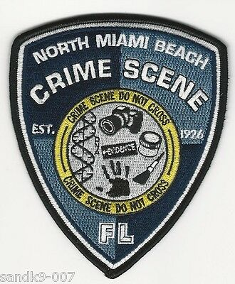 CSI Patch North Miami Beach Police State Florida FL Shoulder Patch FORENCICS