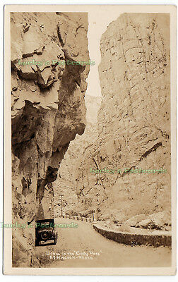 VIEW IN THE CODY PASS Wyoming - c1930 Photo POSTCARD Yellowstone National Park