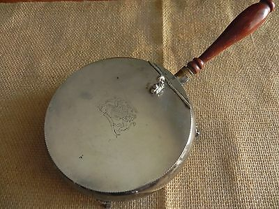 Vintage Silver plate Classic AshTray with Lid +Handle - Decorative Table (ref88)