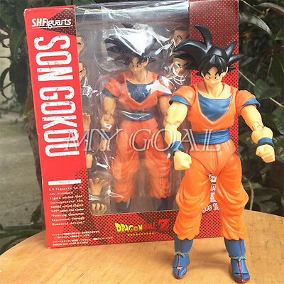 "Dragonball Z DBZ 6"" Tamashii S.H. Son Goku Action Figure Toys Anime Collections"
