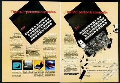1982 Sinclair ZX81 computer and kit 2 photo vintage print ad
