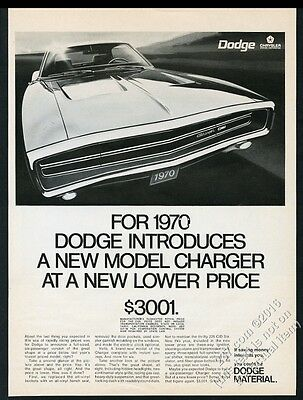 1970 Dodge Charger car photo vintage print ad