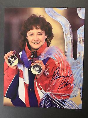 Five Times Gold Medalist Olympic Speed Skater Bonnie Blair Autograph Photo~