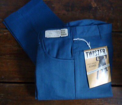NOS VTG 60s MOD DEADSTOCK TAPERED TWISTER BOYS TEEN JEANS PANTS 28x29 RAB USA