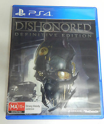 Sony Playstation 4 Ps4 Game Dishonored Definitive Edition - Excellent Condition
