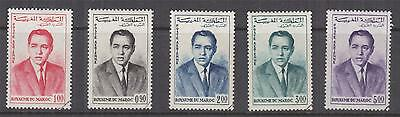 MOROCCO, 1962 King Hassan set of 5, cto.