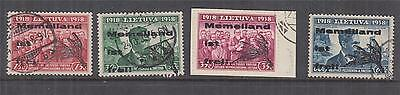 LITHUANIA, GERMANY, MEMELLAND IST FREI,1939 set of 4, used.