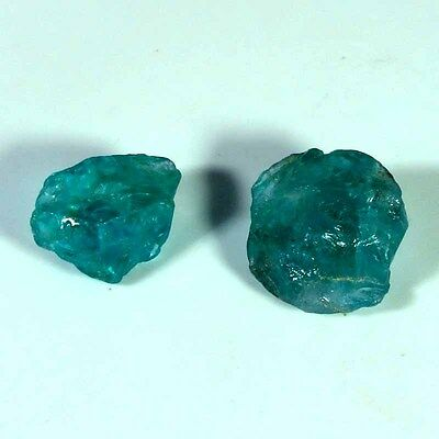 11.70 Cts. 100% Natural Apatite Facet Rough Two Piece Mixed Cabochonspecimen