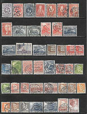 DENMARK Very Nice Early Mint and Used Issues Selection 'D' (Dec 0290)