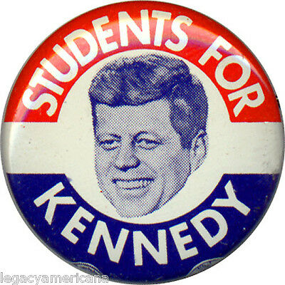 1960 Campaign STUDENTS FOR John F. KENNEDY Picture Button (1007)