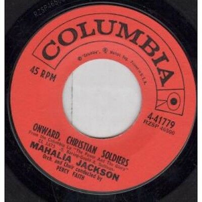 "MAHALIA JACKSON Onward Christian Soldiers 7"" VINYL US Columbia B/W My Country"