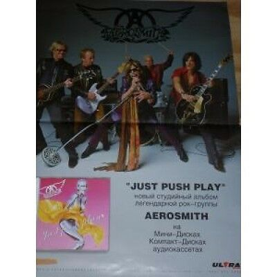 AEROSMITH Just Press Play POSTER Russian Sony Full Colour Folded Promo Poster